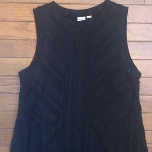 GAP sleeveless black lined dress